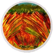 Sweeping Fields Round Beach Towel