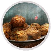 Sweet - Scone - Scones Anyone Round Beach Towel by Mike Savad
