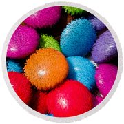 Sweet Abstract 3d Round Beach Towel