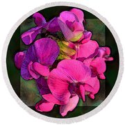Sweet Pea Pop Out Photoart Square Round Beach Towel