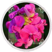 Sweet Pea Pop Out Square Round Beach Towel