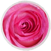 Sweet Pink Rose IIi Round Beach Towel