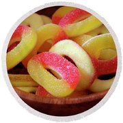 Sweeter Candys Round Beach Towel by Carlos Caetano