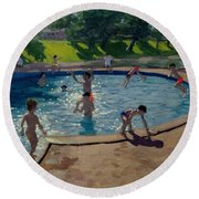 Swimming Pool Round Beach Towel