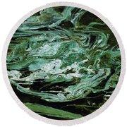 Swirling Algae Round Beach Towel