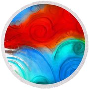 Swirls Round Beach Towel