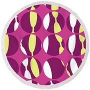 Swirly Stripe Round Beach Towel by Louisa Knight