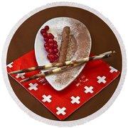 Swiss Chocolate Praline Round Beach Towel