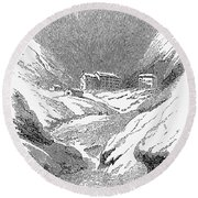 Switzerland: Convent, 1843 Round Beach Towel
