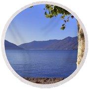 sycamore tree at the Lake Maggiore Round Beach Towel