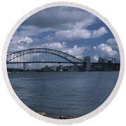 Sydney Harbor Australia Round Beach Towel