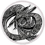 Symbol Of The Dragon Round Beach Towel