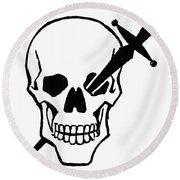 Symbol: Skull & Dagger Round Beach Towel