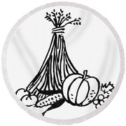 Symbol: Thanksgiving Round Beach Towel