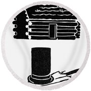 Symbols: Abe Lincoln Round Beach Towel
