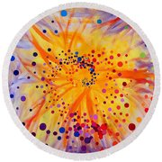 Symmetry Breaking Round Beach Towel