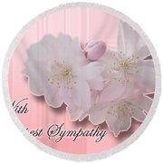 Sympathy - Cherry Blossoms Round Beach Towel
