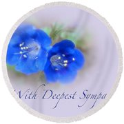 Sympathy Card - Blue Wildflower Round Beach Towel
