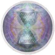 Synthesphered Grail On Caducus Blazed Tapestrys Round Beach Towel