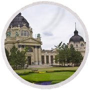 Szechenyli Baths - Budapest Round Beach Towel
