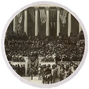 T. Roosevelt Inauguration Round Beach Towel