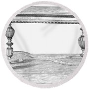Table, 19th Century Round Beach Towel