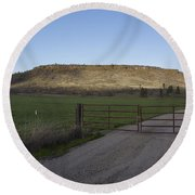 Table Rock Afternoon Round Beach Towel