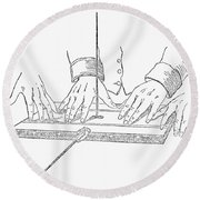 Table-turning Device, 1853 Round Beach Towel