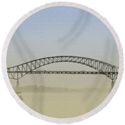 Tacony - Palmyra Bridge Round Beach Towel