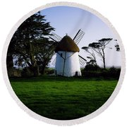Tacumshane Windmill, Co Wexford, Ireland Round Beach Towel