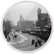 Taft Inauguration, 1909 Round Beach Towel