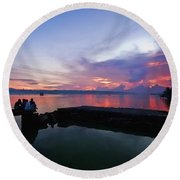 Tagbilaran Sunset Round Beach Towel