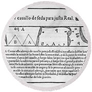 Tailors Pattern Book, 1589 Round Beach Towel