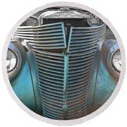 Tainted Hot Rod Round Beach Towel