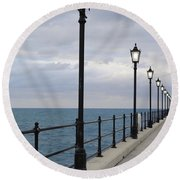Take A Stroll With Me Round Beach Towel by Luke Moore