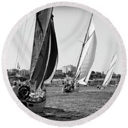 Tall Ship Races 2 Round Beach Towel