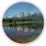 Tallac Reflections Round Beach Towel