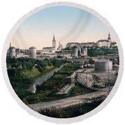 Tallinn Estonia - Formerly Reval Russia Ca 1900 Round Beach Towel by International  Images