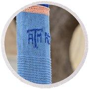 Tamu Astronomy Crocheted Lamppost Round Beach Towel by Nikki Marie Smith