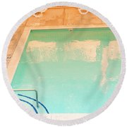 Tandem By The Pool Round Beach Towel