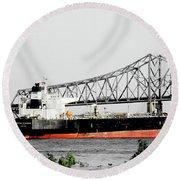 Tanker Baton Rouge Round Beach Towel