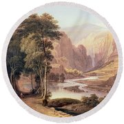 Tasmanian Gorge Round Beach Towel