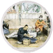 Tattoo Parlor, 1882 Round Beach Towel