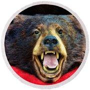 Taxidermy -  Black Bear Round Beach Towel