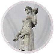 Tbilisi Mother Of Georgia Statue Round Beach Towel