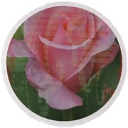 Tea Rose - Asia Series Round Beach Towel