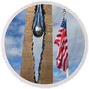 Teardrop Memorial Round Beach Towel