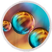 Techno-coloured Bubble Abstract Round Beach Towel