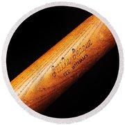 Ted Williams Little League Baseball Bat Round Beach Towel