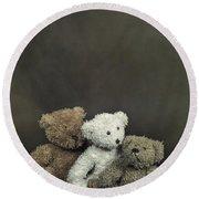 Teddy Bear Family Round Beach Towel